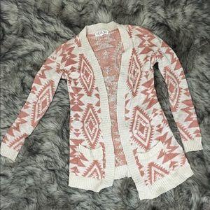 Boho tribal cardigan sweater